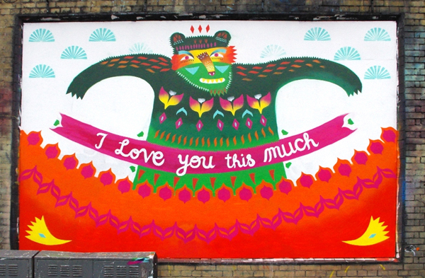 Wedding proposal painted on Shoreditch Art Wall: jux_proposal4.jpg