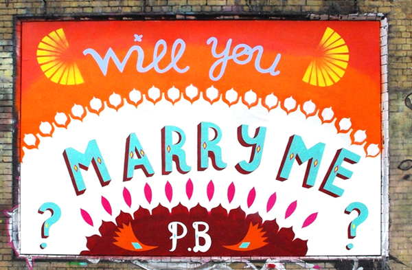 Wedding proposal painted on Shoreditch Art Wall: jux_proposal6.jpg