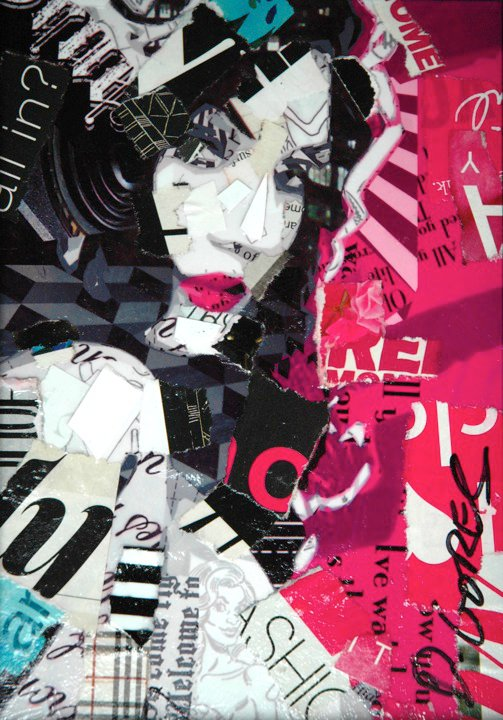 Collage Portraits by Derek Gores: derek14.jpg
