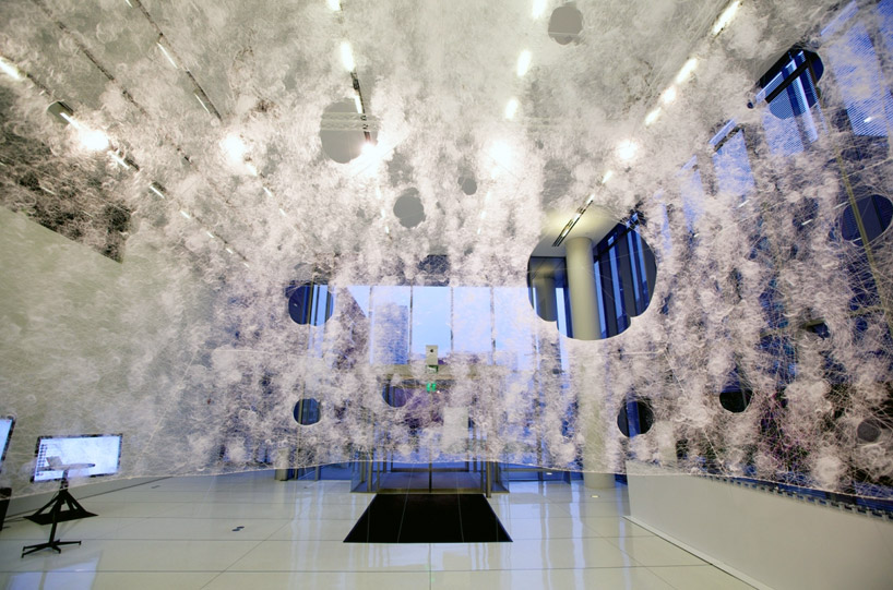 Watch: Silk Pavilion built with the help of 6,500 silkworms: silk-pavilion-MIT-media-lab-designboom031.jpg
