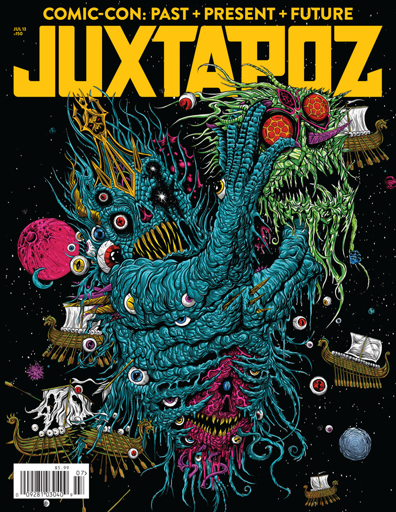 "Issue Preview: July 2013 ""Comic-Con"" Special with Skinner, Gentle Giant, Ben Jones, Alex Pardee, and WETA: Juxtapoz-Jul2013-Cover.jpg"