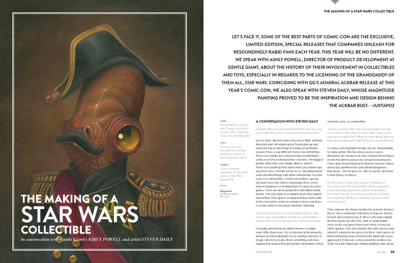 "Issue Preview: July 2013 ""Comic-Con"" Special with Skinner, Gentle Giant, Ben Jones, Alex Pardee, and WETA: sw-01.jpg"