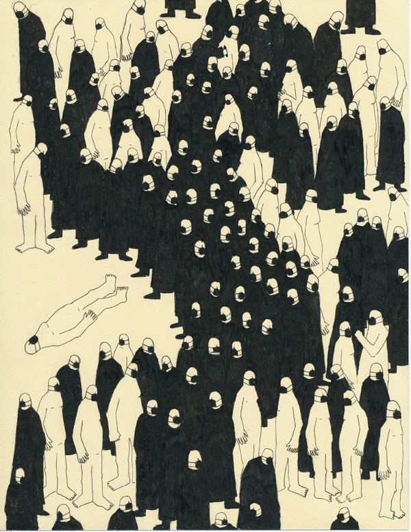 Drawings by Nick Howard: crowd.jpg