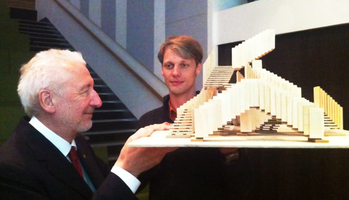 "MC Escher-inspired ""Endless Stair"" @ St. Paul's Cathedral, London: JL with Sir John Sorrell.jpg"