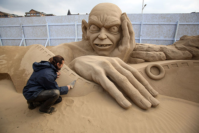 Sand Sculpture Festival in North Somerset, England: sand-sculpture-festival-england-1.jpg