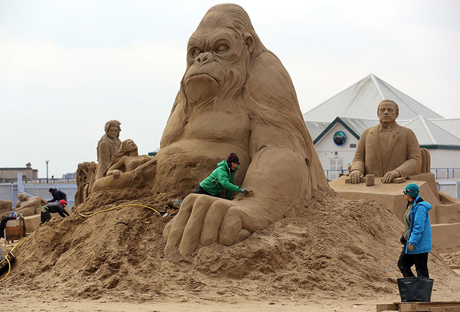 Sand Sculpture Festival in North Somerset, England: sand-sculpture-festival-england-16.jpg