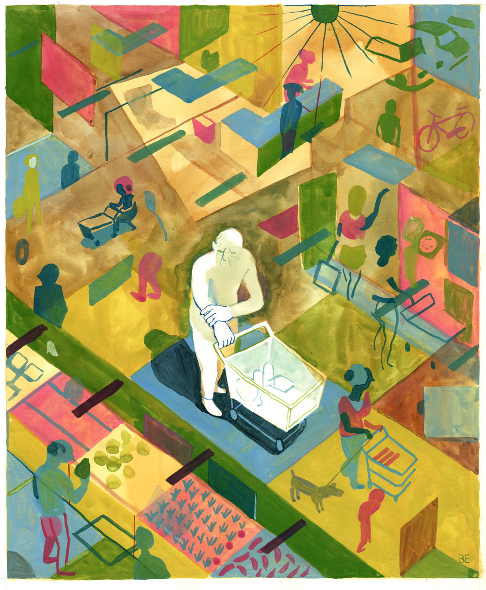 Illustrations and Cartoons by Brecht Evens: BrouwersEvensTunnelvisie.jpg
