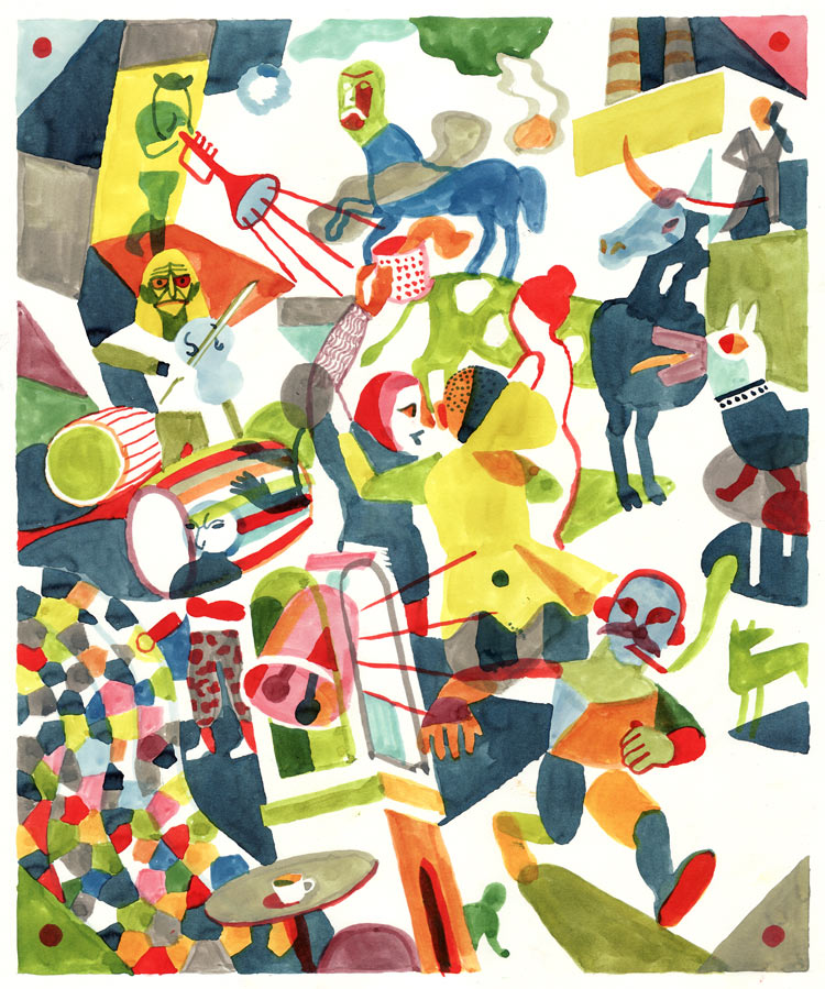 Illustrations and Cartoons by Brecht Evens: LublinPawlowskiEvens.jpg