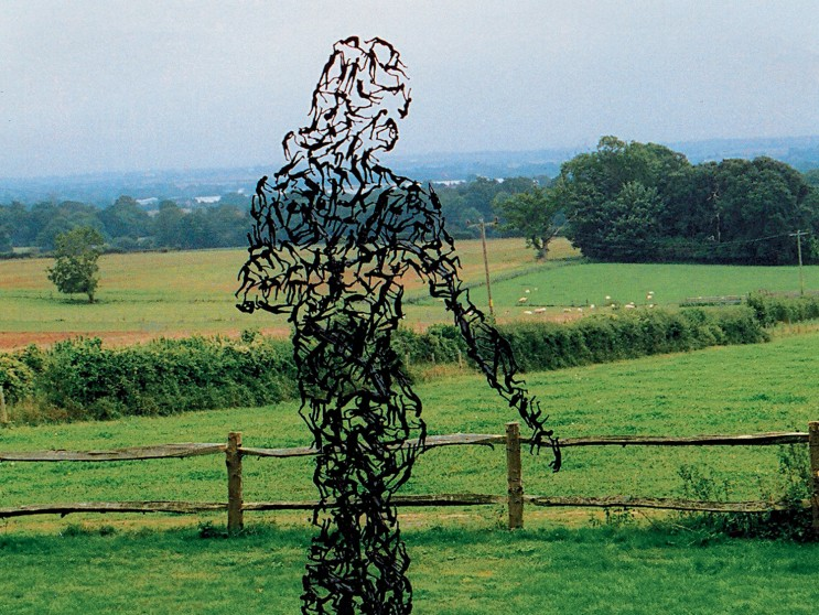 Zadok Ben-David's Field of Painted Metal Flowers: a-lookingback001-743x558.jpg
