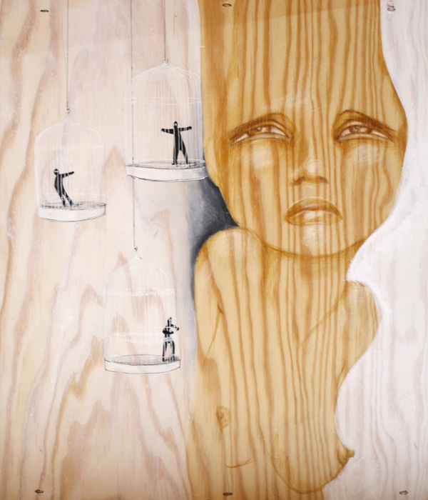 Illustrations and on Paper and Wood by Antonella Montes (aka Lantomo): Mimetismo.jpg