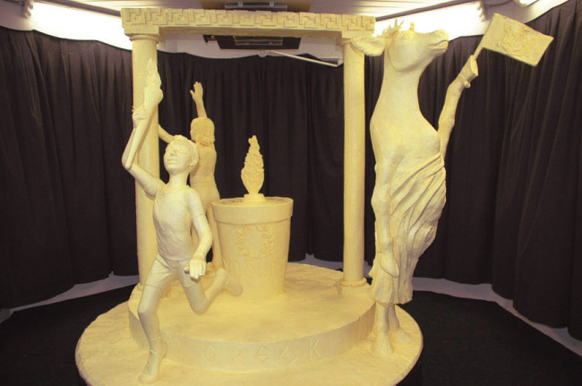 Butter and Other Food Sculptures by Jim Victor and Marie Pelton: Boy_togacow1-650x431.jpg
