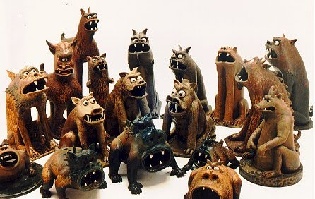 The Demented, Incredible Ceramic Works of Clayton Bailey: dogs.jpg