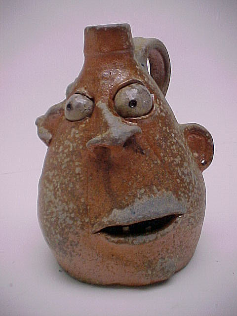 The Demented, Incredible Ceramic Works of Clayton Bailey: galleryjug2face2.JPG