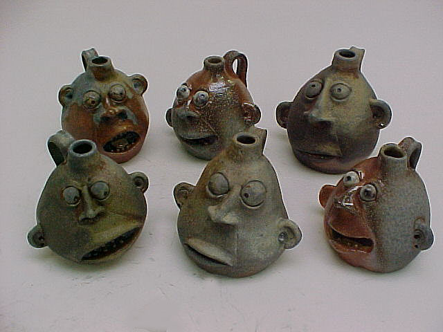 The Demented, Incredible Ceramic Works of Clayton Bailey: galleryjugsgroup.JPG