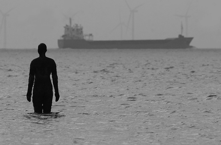 """Another Place,"" 100 Cast Iron Sculptures by Antony Gormley: antonygormleyanotherplace5.jpg"