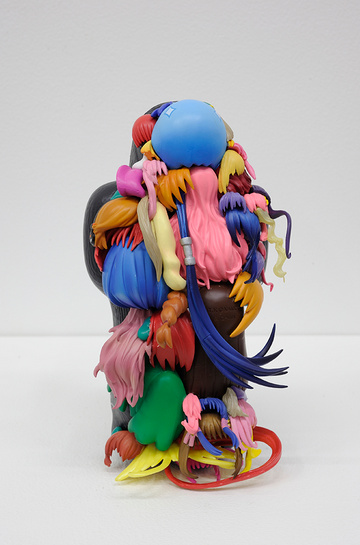 Teppei Kaneuji's Plastic Hair Assemblages: teppei-kaneuji-teenage-fan-club-2.jpg