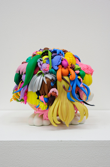 Teppei Kaneuji's Plastic Hair Assemblages: teppei-kaneuji-teenage-fan-club-3.jpg