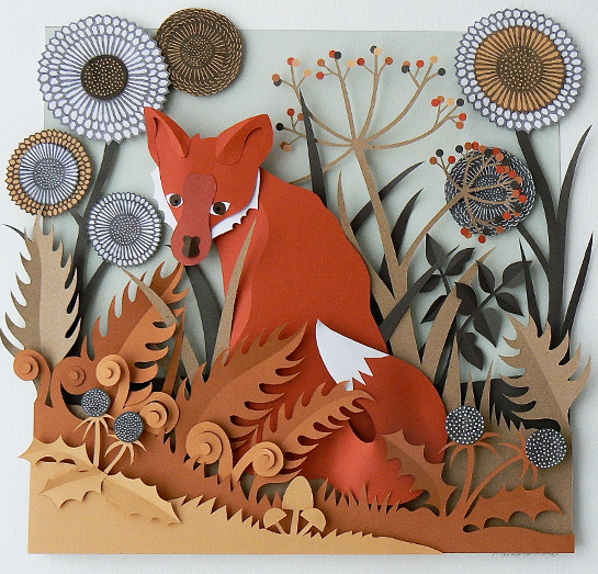 Paper Sculptures by Helen Musselwhite: fox.jpg