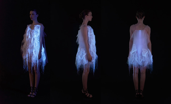 Ying Gao's Photoluminescent Eye Tracking Dresses: 2-nowhere-nowhere-2-gaze-activated-dresses-by-ying-gao.jpg