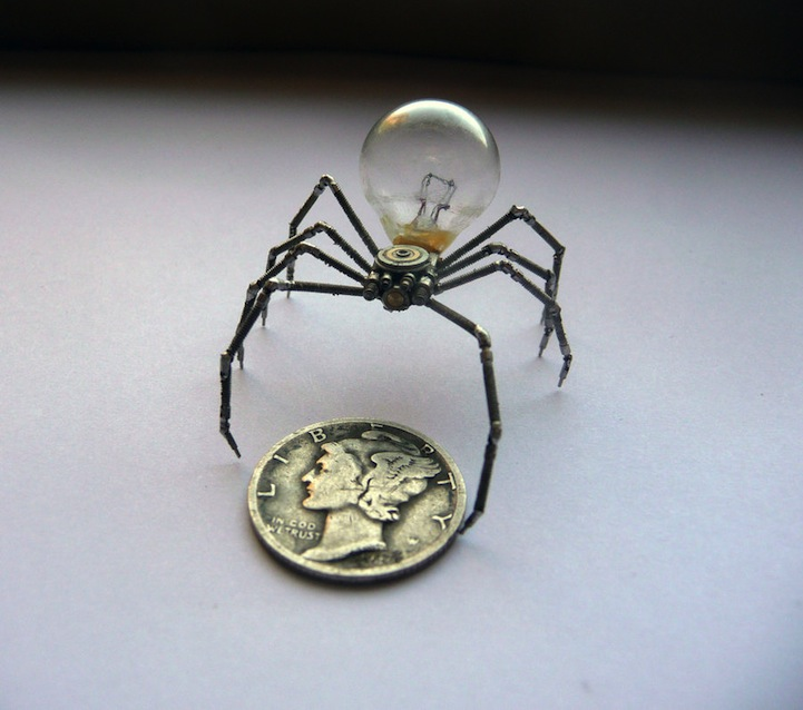 A Mechanical Mind's Tiny Steampunk Insects: justingershensongatesamechanicalmind1.jpg
