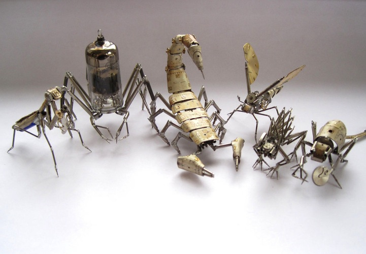 A Mechanical Mind's Tiny Steampunk Insects: justingershensongatesamechanicalmind10.jpg