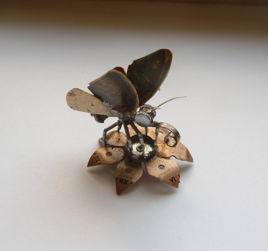 A Mechanical Mind's Tiny Steampunk Insects: justingershensongatesamechanicalmind11.jpg