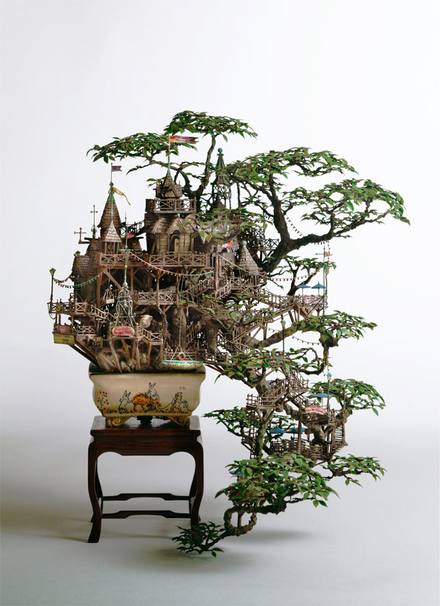 Bonsai Treehouses and other Sculptures by Takanori Aiba: 2_Aiba_Bonsai-B_view11.jpg