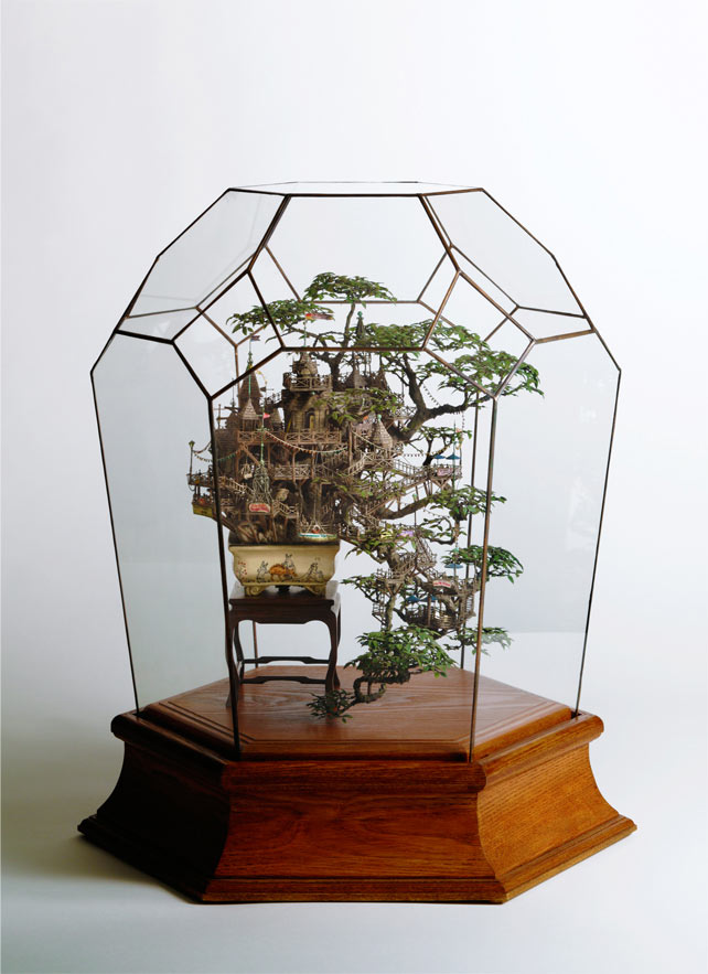 Bonsai Treehouses and other Sculptures by Takanori Aiba: 2_Aiba_Bonsai-B_view21.jpg