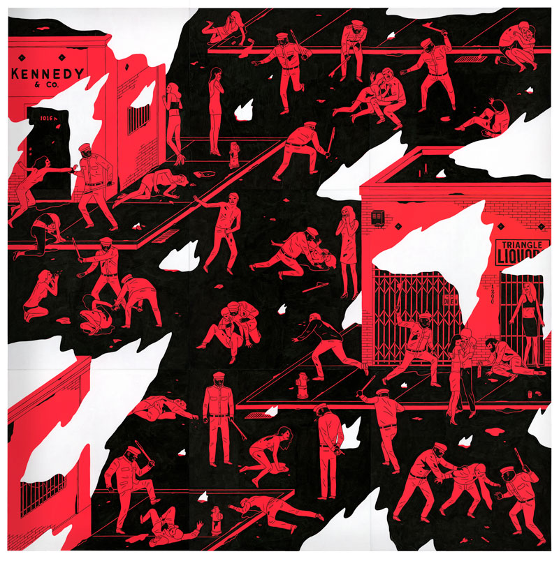 "Cleon Peterson ""There Is A War"" @ The Outsiders, London: cleon-peterson-solo-exhibition-539.jpg"
