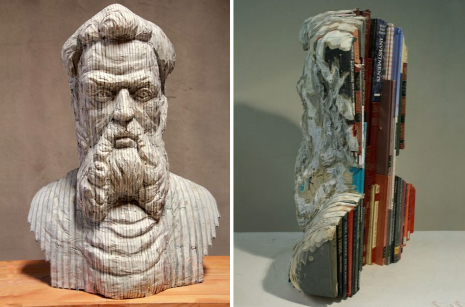 Recycled Book Sculptures by Long-Bin Chen: gallery4.jpg