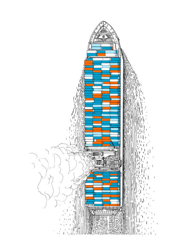 Impossible Architectural Illustrations by Toby Melville-Brown: cargo_ship_website.JPG