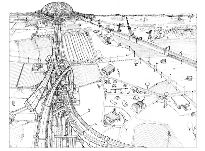 Impossible Architectural Illustrations by Toby Melville-Brown: motorway_2048.png