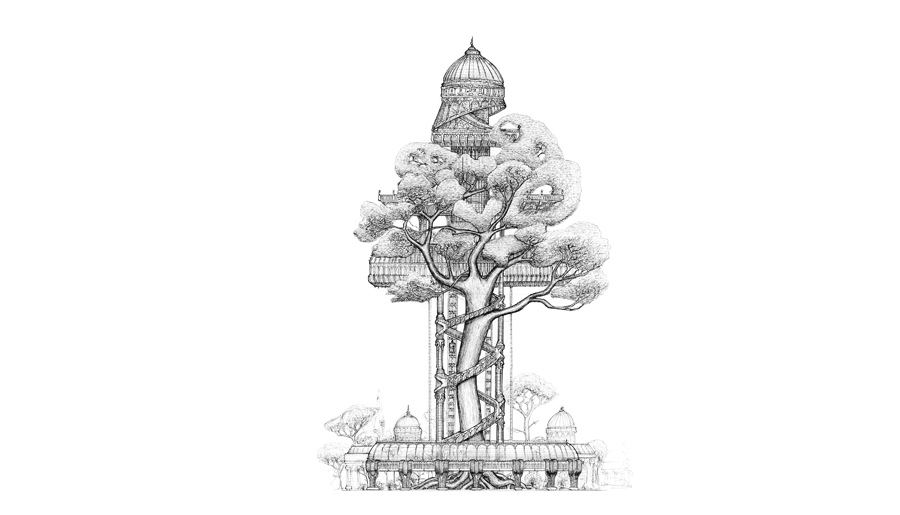 Impossible Architectural Illustrations by Toby Melville-Brown: towers2_900x650__2048.png