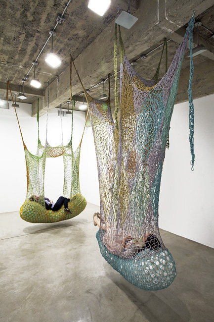 Interactive Installations by Ernesto Neto: Neto_TBG2012_Gallery2_Installationview_2_share.jpg