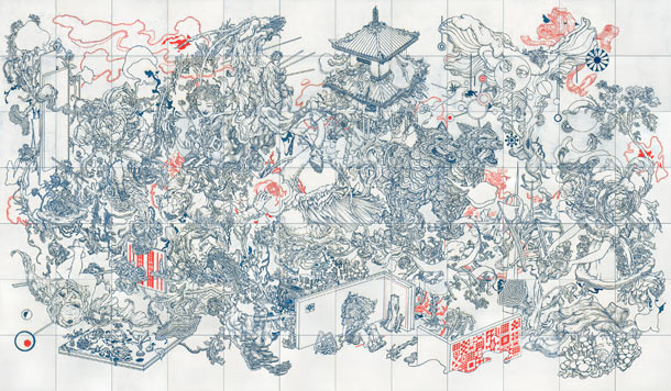 The Pond, The Mirror, The Kaleidoscope @ School of Visual Arts, NYC: James-Jean-Pagoda.jpg