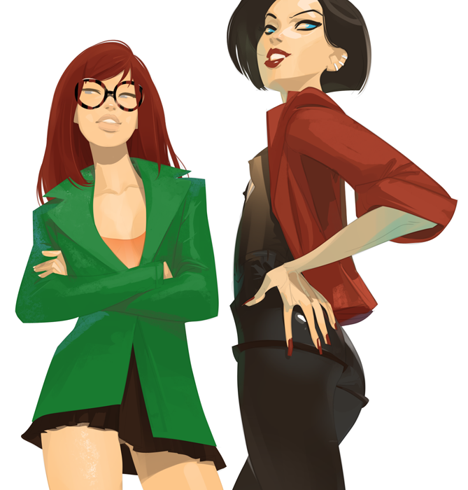 Otto Schmidt's Digital Illustration: daria&jane2.png