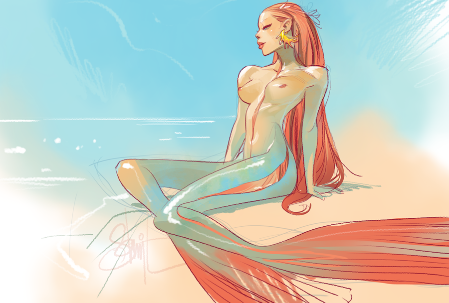 Otto Schmidt's Digital Illustration: merm1.png