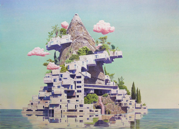 The Utopian Future by Tristram Lansdowne: Axis-Mundi-2012-44x33-inches.jpg