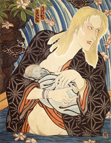 The Work of Masami Teraoka: AIDS_Mother_and_Child_-_1990_web.jpg