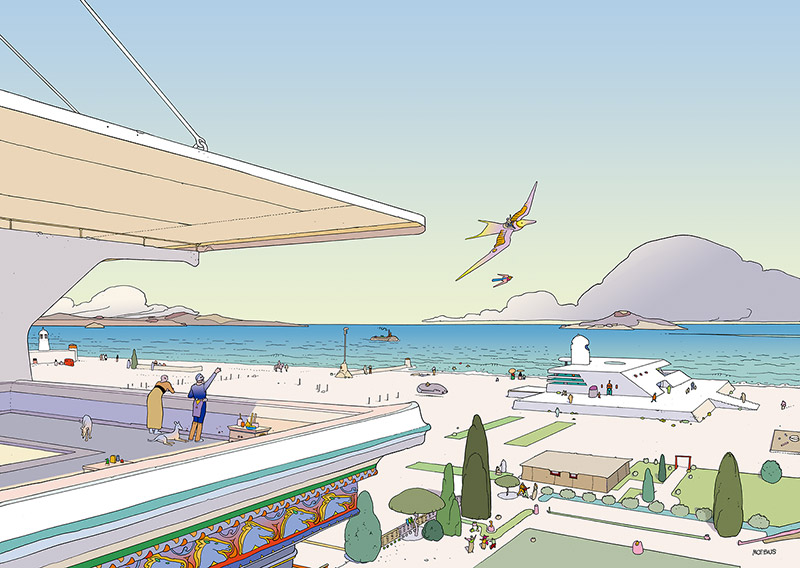 """VOYAGE D'HERMES"": When Moebius Created Work for HERMÈS: moebius-hermes-Voyage-dHermes-5.jpg"