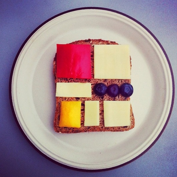 Famous Paintings Recreated with Food... as in Sandwiches... : Mondrian.jpg