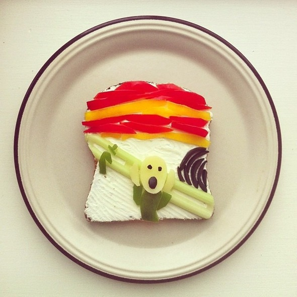 Famous Paintings Recreated with Food... as in Sandwiches... : Munch.jpg
