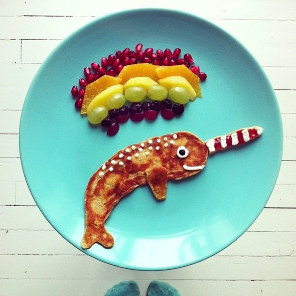 Famous Paintings Recreated with Food... as in Sandwiches... : Narwhale.jpg