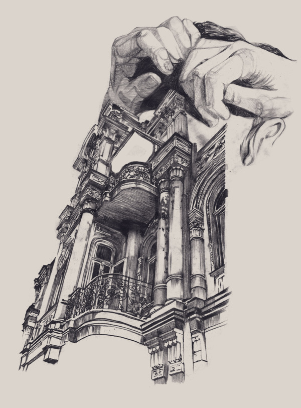 Illustrations of Architecture in Odessa by Dasha Pliska: ARCHITECTURE-odessa_Dasha-Pliska_03.jpg
