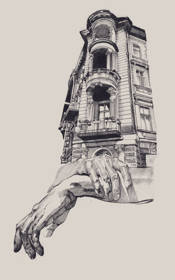 Illustrations of Architecture in Odessa by Dasha Pliska: ARCHITECTURE-odessa_Dasha-Pliska_04.jpg