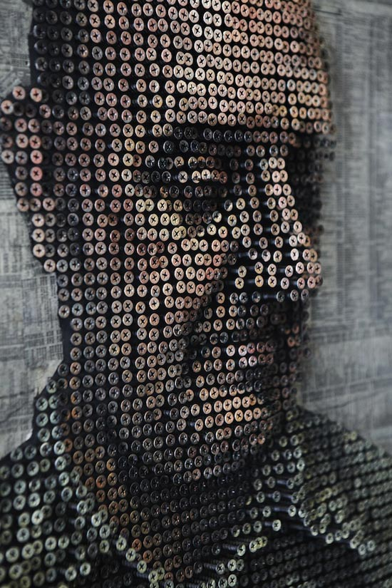 Portraits Made From Screws by Andrew Meyers: andrew-myers6.jpg