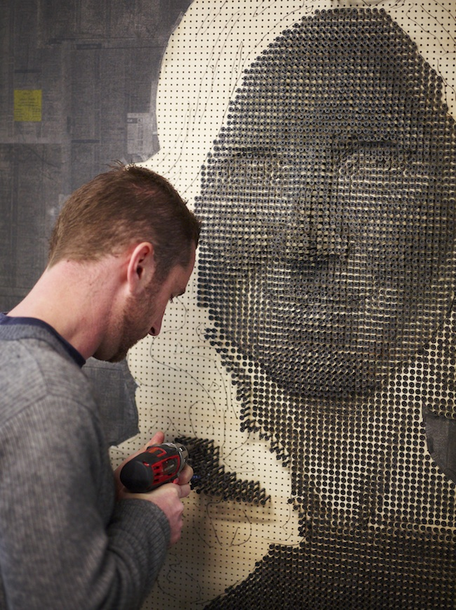 Portraits Made From Screws by Andrew Meyers: andrewmyers13.jpg