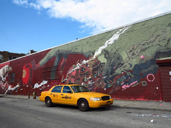 Smithe paints a dizzying mural in Brooklyn: jux_smithe3.jpg