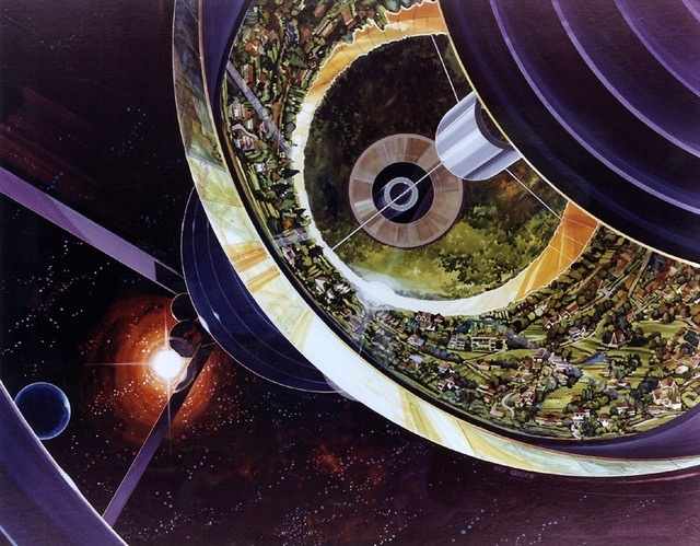 NASA's Space Station Concept Drawings From the '70s : psychedelic-space-station-concepts-1.jpg