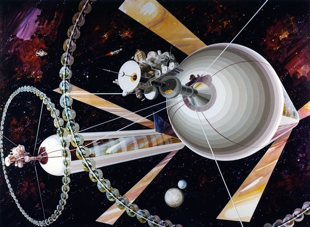 NASA's Space Station Concept Drawings From the '70s : psychedelic-space-station-concepts-2.jpg